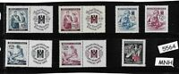 MNH Stamp set / German  Occupation / Third Reich / Red Cross & Nursing / WWII