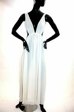 Vintage 1980s drop back chiffon Goddess gown by Bonnie Strauss