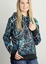 Muddy Girl Hoodie | Women's Serenity Blue Camo Sweatshirt (S M L XL 2XL 3XL)