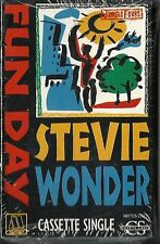 FUN DAY [Single] - by STEVIE WONDER  CASSETTE NEW! MOTOWN