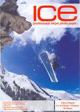 ICE Gloss 6x4 Photo Paper 210gsm 50 sheet 6 x 4 Glossy 210g