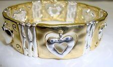 18kt Gold Plated Valentines Day Stretch Bracelet