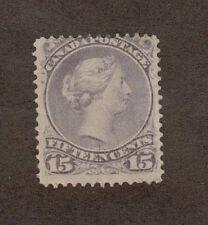 Canada  Scott  29  Queen Victoria. 15 Cent. MH. OG..  #02 CAN29