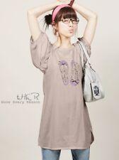Korean Style Sandals Printed Puff Sleeve T-shirt New