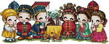 Free S&H 14 Counted aida oriental Cross stitch korean baby wedding kit KD008