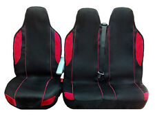 RENAULT TRAFIC SL27 DCi SWB 115ps 2+1 BLK/RED FABRIC VAN SEAT COVERS