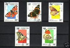 1910++CAMBODGE  SERIE TIMBRES  PAPILLONS  1995