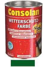 Consolan Wetterschutz-Farbe Grün 5 Liter NEUWARE Art. Nr. 5087473