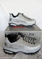 Skechers Sport zapatos * Premium beatiful * cortos-Xtina-plata talla 38 nuevo cuero