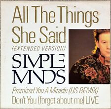 Maxi 45t Simple Minds - All the things she said