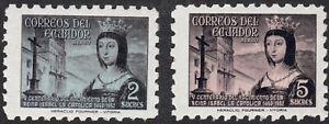 1954 Ecuador SC# C259-C260 - Queen Isabella I of Spain - M-HR