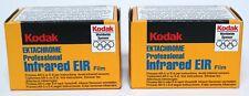 2x Kodak Ektachrome Professional Infrared EIR film 35mm 36exp READ DESCRIPTION