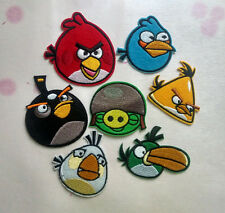 New Angry Birds Embroidered Cloth Iron On Patch clothing shirt trousers 7pcs