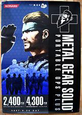 Metal Gear Solid Portable OPS Raro Psp 51.5 cm X 73 Cm Cartel Promo Japonés