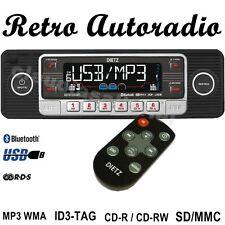 Autorradio retro style negro USB SD Bluetooth CD mp3 para VW Oldtimer ~