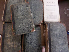 THE WORKS OF SAMUEL JOHNSON - 9 of 12 VOLS - published 1796 - NEED SOME REPAIR