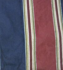 "Waverly Pair Lined Drape Panels Burgundy Red & Navy Stripes 42"" X 86"" Ea. Panel"