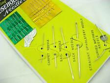 Tutti Pack aghi SACCO TAPPETO Scarpa Abiti Stitches MATERASSO Hand Aghi per cucire