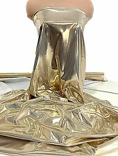 """LIQUID LAME FABRIC GOLD/WHITE  45"""" BY THE YARD CRAFTS, DECOR, COSTUME"""