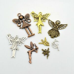 40g Metal Alloy Steampunk Angels Charms Mixed Colour Pendants (G11)