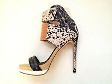 MIA ROCCO NIB Women's GRAY Snake Heels Sandals Limited Edition Size 7.5 $350