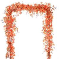 1 Pack Fall Maple Leaf Garland Decoration Plant Wall Hanging for Thanksgiving