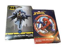 Batman Dc Comics 46� & Spider-Man Marvel 18� Foil Balloons - Party Supply New