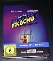 Pokemon Meisterdetektiv Pikachu 3D blu ray+ blu ray Limitata steelbook Nuovo