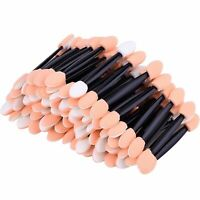 100x Soft Disposable Eye Shadow Applicators Sponge Eye Lip Makeup Brush Tool US
