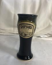 Shipyard Brewing Co. Ceramic Pilsner Drinking Cup EUC