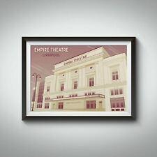 More details for liverpool empire theatre travel poster - framed - vintage - bucket list prints