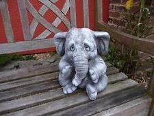 Steinfigur Elefant  Steinfiguren Garten Deko Gartenfiguren Elefanten Steinguss