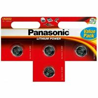 4 Panasonic CR2032 3V Battery Lithium Coin Cell For Doorbells Key Fobs Watches