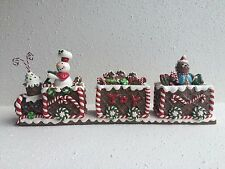 NEW GINGERBREAD TRAIN CANDY CANE SNOWMAN CHRISTMAS DECOR ST. NICHOLAS SQUARE