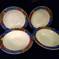 Sakura Sunset Mountain Rimmed Soup Bowls Set of 4 Discontinued