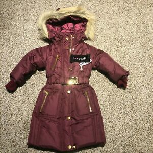 BRAND NEW Winter Coat Faux Fur Removable Hood Toddler 2T JACKET COAT NWT
