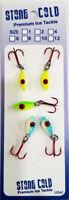 5 DEADLY 1/16 Glow Dark Ice Fishing Jig Lure Drop Bait USA Walleye Perch
