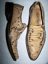 """SCARPE """"NEXT-TECH"""" SCARPE PITONE n°41 PYTHON SHOES HAND MADE IN ITALY"""