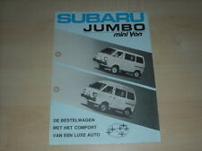 49003) Subaru Jumbo Mini Van Holland Prospekt 198?
