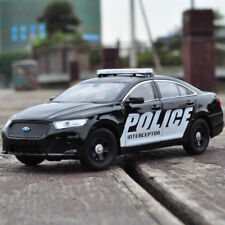 1:24 Ford Police Interceptor Model Cars Open two doors Collection Alloy Diecast