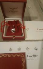 """Cartier Charm Anhänger 18K Weißgold """"8"""" 15 Brillanten Box Zertifikat NP ca 2000€"""