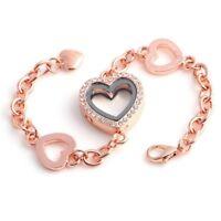 Living Memory Heart Round Glass Locket For Floating Charms Bangle Bracelet New