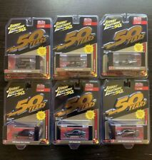 JOHNNY LIGHTNING JLCP7197 50th ANNIVERSARY IMPORT CARS ASSORTMENT 1/64 SET OF 6