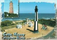OLD & NEW CAPE HENRY LIGHTHOUSES, VIRGINIA BEACH POSTCARD - NEW