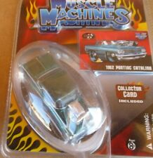 MUSCLE MACHINES  THE ORIGINAL 1962 Pontiac CATALINA W/CARD GREEN 2007  1:64