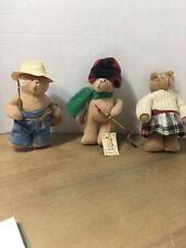 Maureen Sloan Bears & Co Hand Made Jointed Lot Of 3