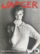 VINTAGE JAEGER KNITTING PATTERN RAGLAN SLEEVED SWEATER FOR WOMEN