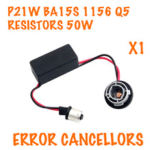1x P21W 1156 BA15S CANBUS WARNING CANCELLERS DRL BRAKE INDICATOR LED BULBS 50W