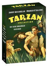 JOHNNY WEISSMÜLLER TARZAN COLLECTION 6 classico BOX DVD EDITION NUOVO TEDESCO