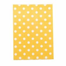 Small Polka Dots on Orange Paper Bags X 50